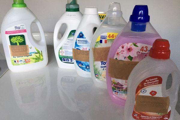 Nos lessives contiennent jusqu'à 30 molécules différentes.