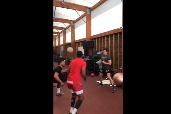 Capture d'écran de la vidéo publié ce jeudi par le RC Toulon