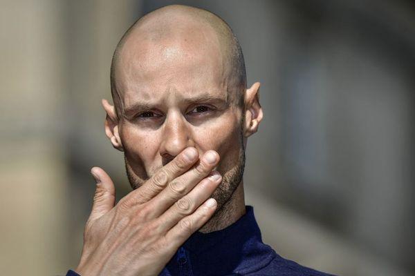 Le quadruple vainqueur du Paris-Roubaix Tom Boonen lors de la présentation des coureurs, la veille de la course.