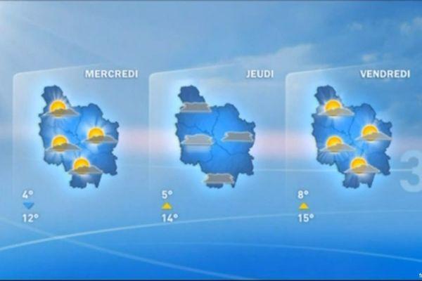 Les prévisions de Météo France pour les jours prochains