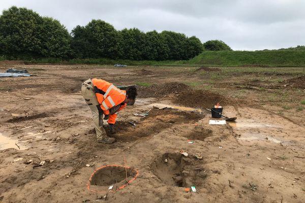 Sur le chantier des fouilles à Concarneau
