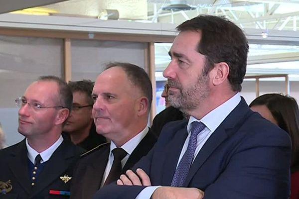Le ministre de l'Intérieur Christophe Castaner en visite à Saint-Maximin jeudi 14 février 2019