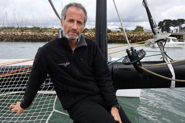 Michel Desjoyeaux à Port-la-Forêt (La Forêt-Fouesnant) dans le Finistère - octobre 2018