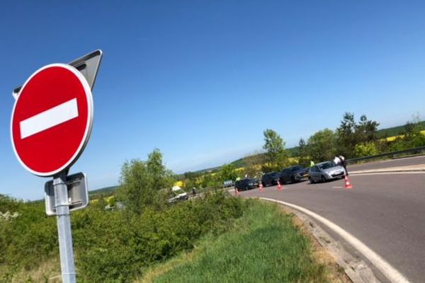 Les contrôles sur l'A31 en direction du Luxembourg.