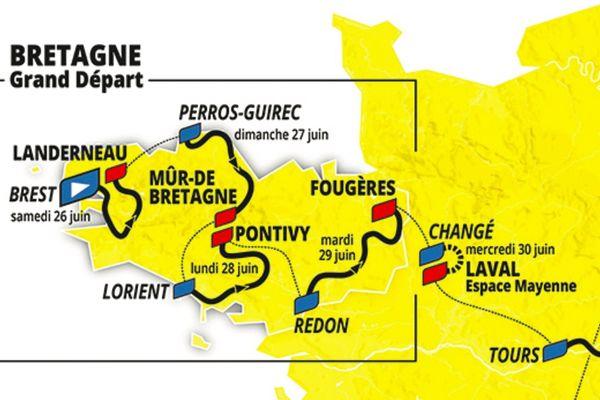 Le Tour de France 2021 partira de Brest, la cinquième étape contre la montre se déroulera entre Changé et Laval en Mayenne