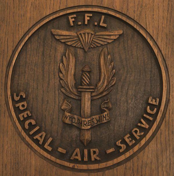 Insigne des Français Libres dans les Forces Spéciales Britanniques