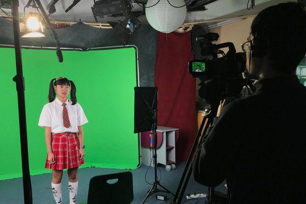 Les étudiants du master 2 médias et création numérique en plein tournage.