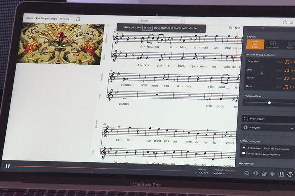 Les internautes auront également accès aux partitions de chant.