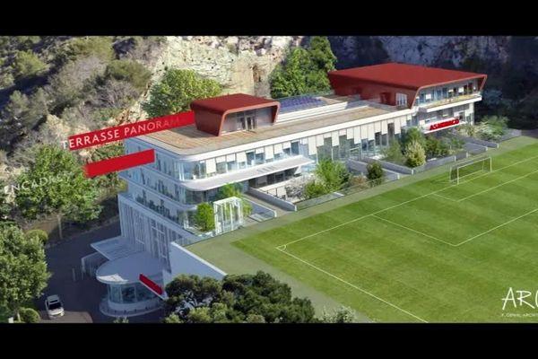 Le futur centre de performance de l'As Monaco.