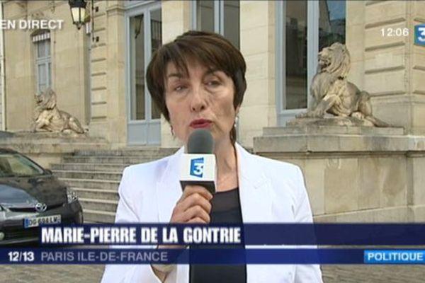 Marie Pierre de la Gontrie était l'invitée du JT de midi.