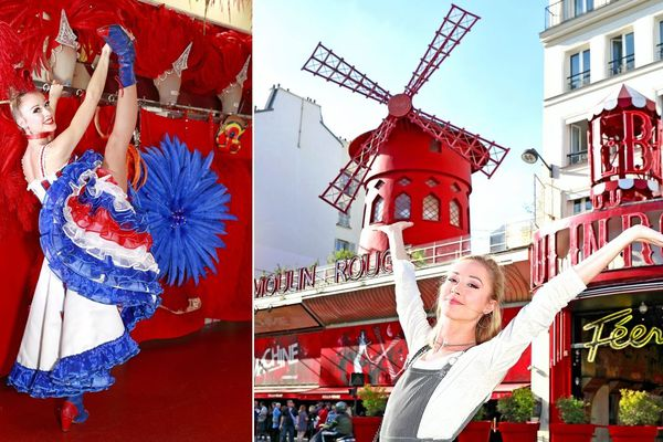 La Dunkerquoise Romane Bollengier, 25 ans, danse depuis six mois au Moulin Rouge à Paris.