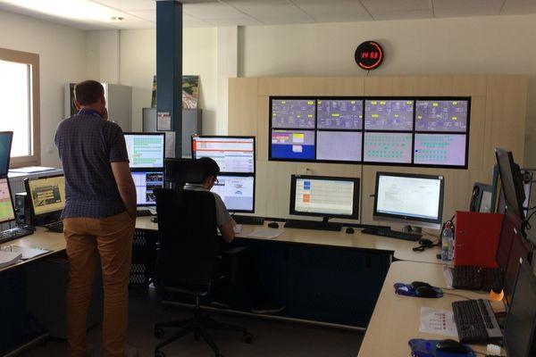 Le centre de surveillance de la LGV à Villognon (Charente)