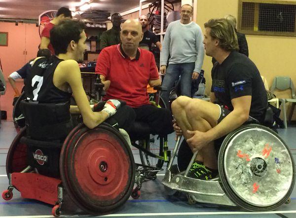 Adrien Chalmin, Philippe Croizon et Aurélien Rougerie: réunis autour d'une passion commune: le sport.