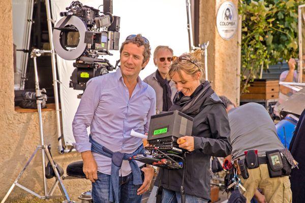 Méliane Marcaggi sur le tournage du film