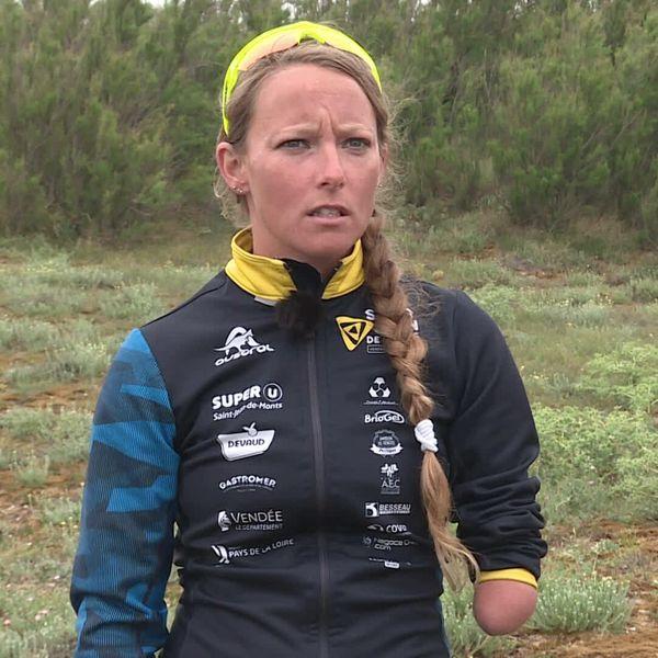 Gwladys Lemoussu, triathlète handisport licenciée à Saint-Jean-de-Monts