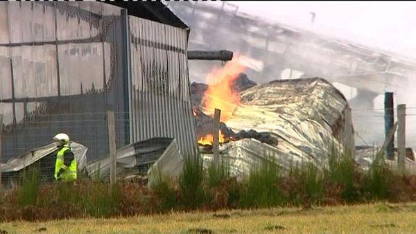 """Incendie à la """"ferme des 1000 veaux"""" à Saint Martial le Vieux (23)"""