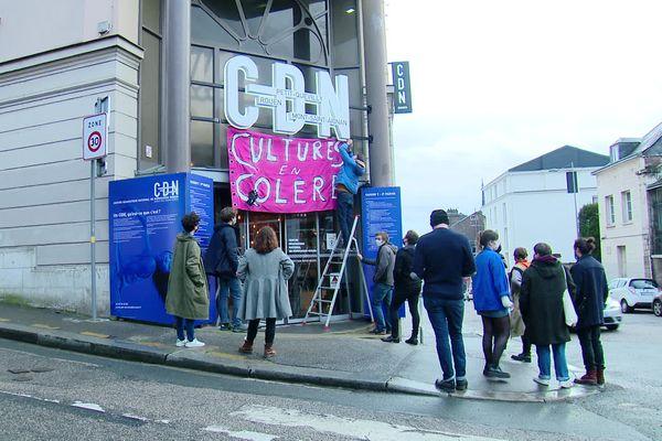 A Rouen, le Théâtre des deux rives est occupé par des acteurs du monde de la culture depuis vendredi 12 mars.