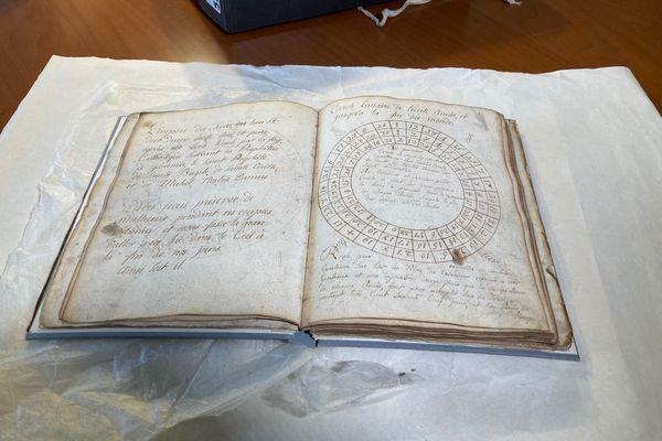 Le manuscrit prophétique de Dominique Aubert.