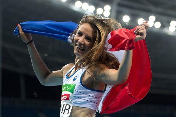Marie-Amélie Le Fur après sa victoire au 400m aux Jeux de Rio, en 2016