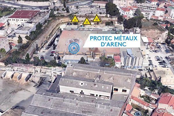 Les nappes phréatiques situées sous l'usine Protec Métaux d'Arenc présenteraient des taux de chrome 6, 500 fois supérieur aux normes réglementaires.