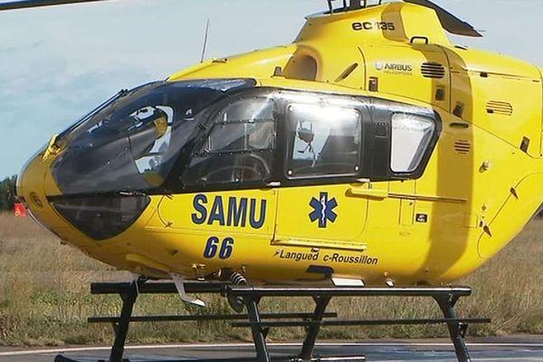 L'hélicoptère du SAMU des Pyrénées-Orientales.