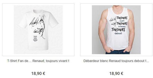 Sur le site de Ketshooop, on retrouve le dessin de Marc Large sur des tee-shirts avec manches et sans manche toujours sans l'autorisation de l'auteur et sans sa signature.