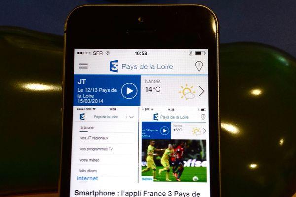 Retrouvez France 3 Pays de la Loire avec son appli mobile.