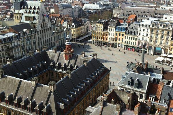 Le centre-ville de Lille vu de haut.