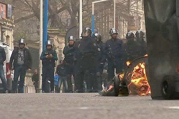 Montpellier - manifestation des lycéens contre les violences policières et pour la défense de Théo - 23 février 2017.