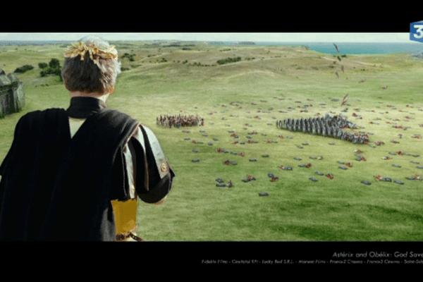 Une scène de bataille animée grâce au logiciel d'animation de figurants virtuels, Golaem Crowd.