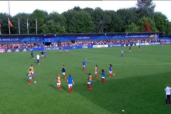 Mondial de foot féminin U20 : le stade Guy Piriou de Concarneau, plein comme un oeuf, pour le quart de finale de la France contre la Corée du Nord !