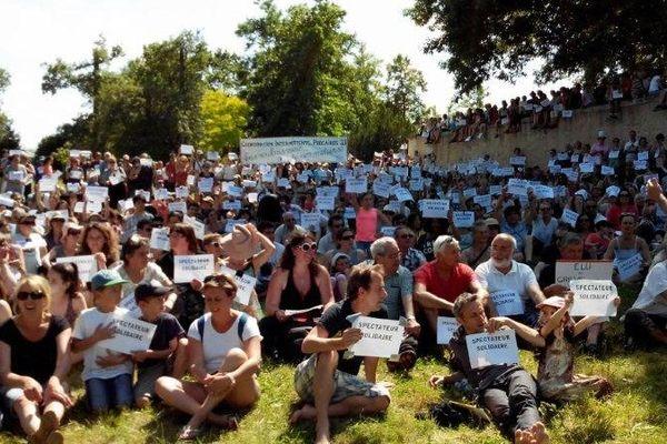 Les spectateurs solidaires pendant l'interruption des spectacles à Blanquefort