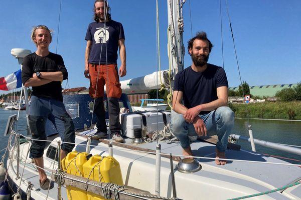 Les trois marins Théophile Schouller, Nicolas Marcillaud et Julien Poisson sont revenus de leur expédition en Arctique.