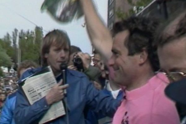 Bernard Hinault, à Dunkerque en mai 1984.