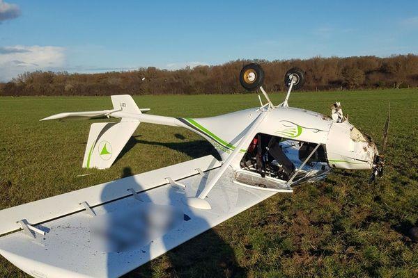 L'accident s'est produit en bout de piste de l'aérodrome de Bréville-sur-mer.