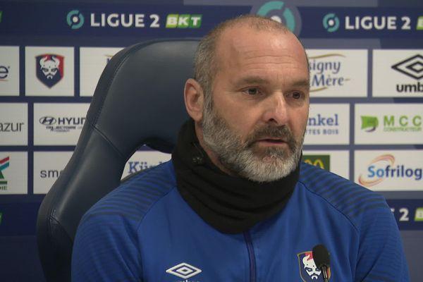 Pascal Dupraz, l'entraîneur du Stade Malherbe de Caen