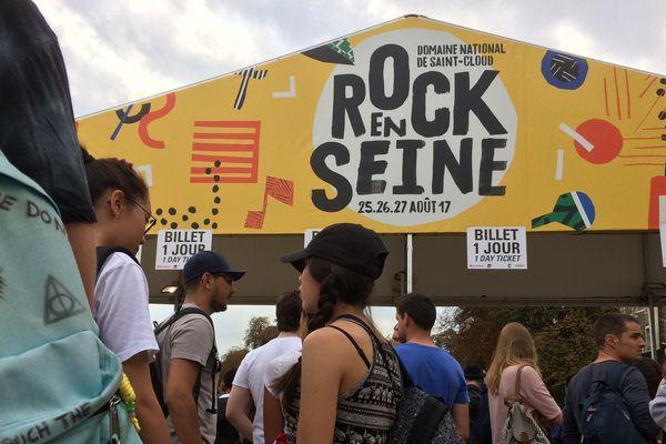 Les festivaliers de Rock en Seine 2017.