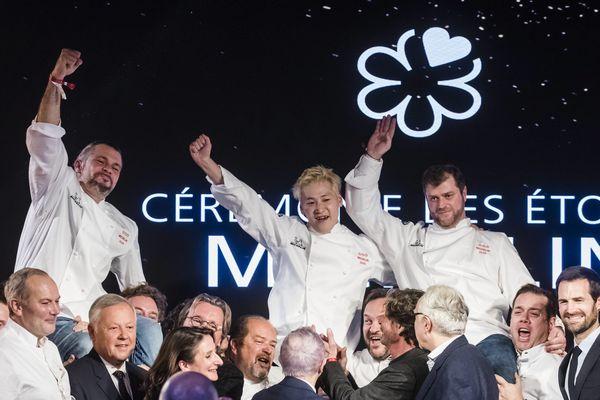 Les lauréats de la cérémonie des étoiles 2020 du Guide Michelin à Paris.