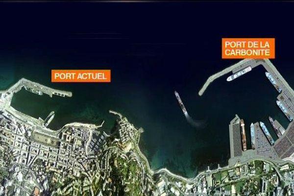 Le projet prévoit la construction du nouveau port à la sortie sud de Bastia.