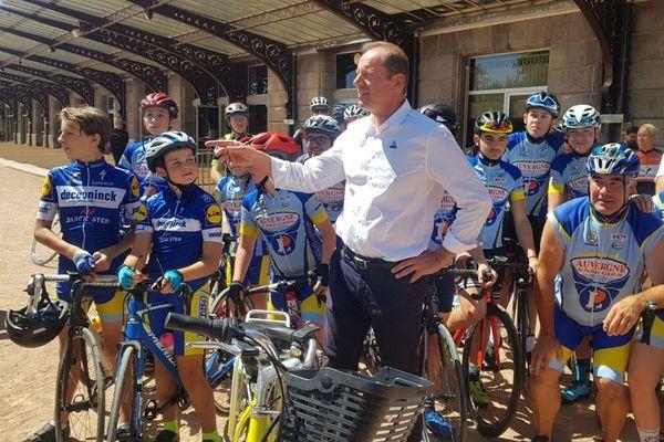 Christian Prudomme, directeur du Tour de France, était à Châtel-Guyon, dans le Puy-de-Dôme, samedi 11 juillet.