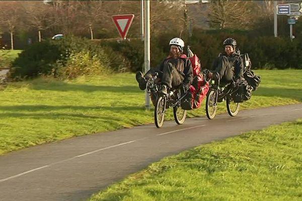 Renan et Gaël ont parcouru 15 000 km en 18 mois en vélo couché !