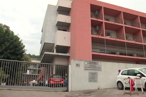 La façade d'un Ehpad municipal niçois.