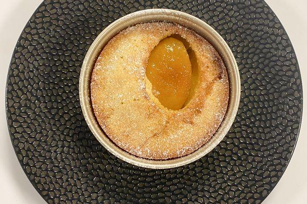 La fameuse amandine aux poires caramélisées que Thomas Pesquet pourra savourer pendant sa seconde mission à bord de l'ISS.