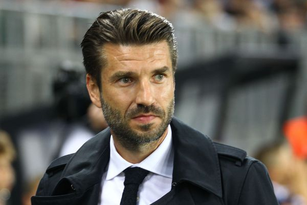 L'entraîneur de l'Amiens SC Luka Elsner en septembre 2019 lors du match ASC-OL.
