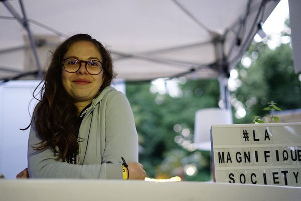Claire-Marie Luttun, bénévole à la Magnifique Society / Reims, le 17 juin 2018