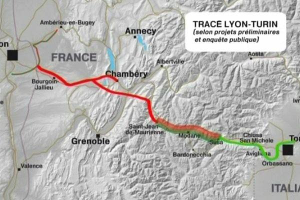 Le tracé du Lyon-Turin- Archives