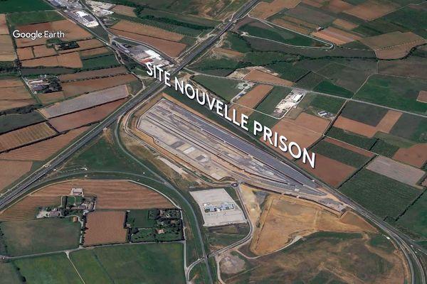 Nîmes - futur emplacement de la nouvelle prison de 700 places, ouverture en 2027.