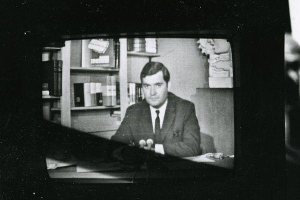 Jimmy Jonquard sur le plateau TV de Nancy Thermal. Juillet 1967