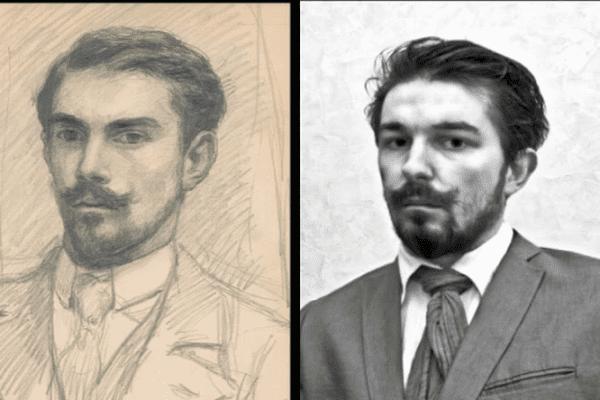 Nicolas Blanchard a découvert ce peintre Georges Lacombe il y a seulement quelques mois…une rencontre qui la métamorphosé…jusqu'au point… de lui ressembler