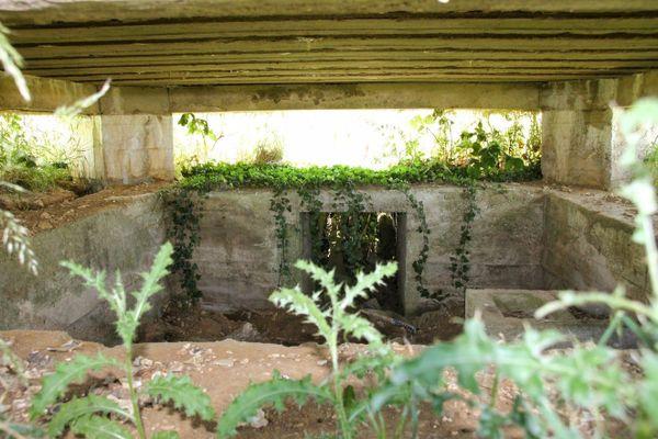La couverture en béton de ce bunker devait protéger des bombardements ennemis.